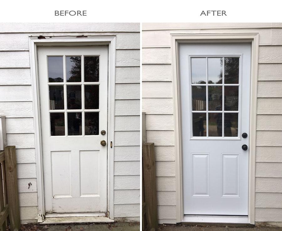 Exterior Door Replacement Turner Blair Services